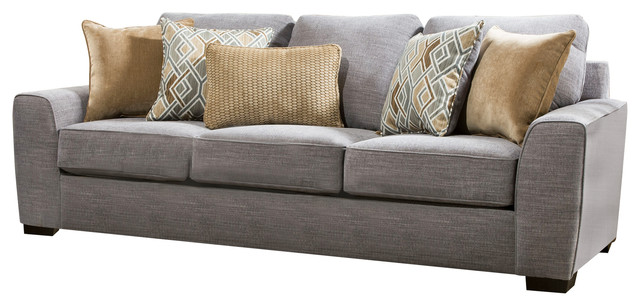 Lane Home Furnishings Pompeii Silver Sofa - Transitional - Sofas .