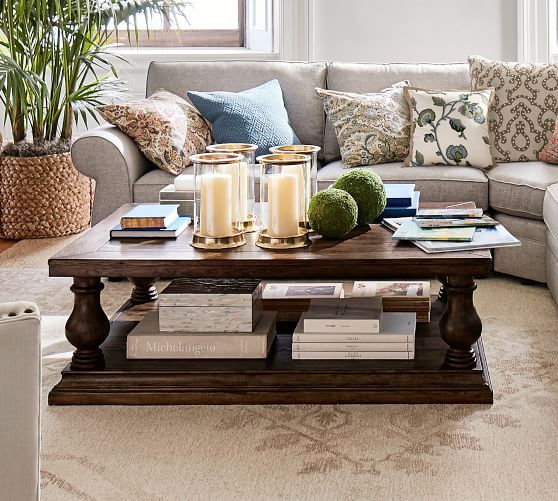 Lorraine Coffee Table, Rustic Brown | Table decor living room .