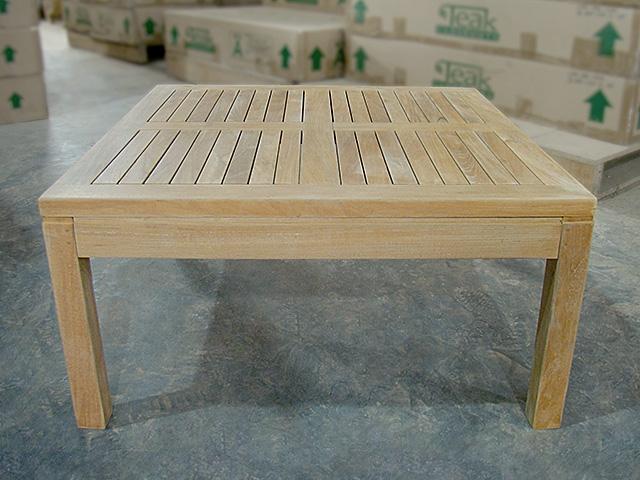 Inch Teak Coffee Table - 80cm x 80
