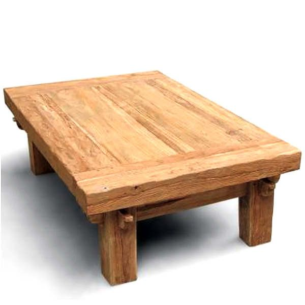 This large teak coffee table has a beautiful organic look with the .