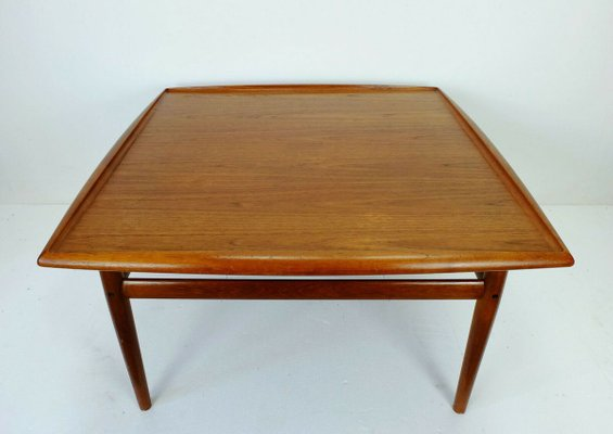 Large Danish Square Teak Coffee Table by Grete Jalk, 1960s for .