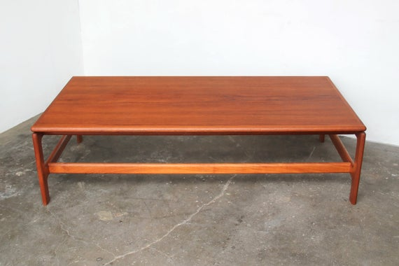 Large Rectangular Teak Coffee Table | Et