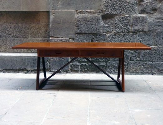 Mid-Century Large Danish Teak Coffee Table, 1960s for sale at Pamo