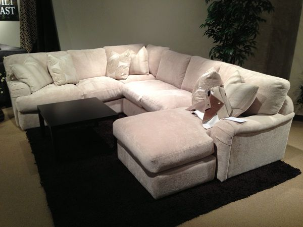 White comfy sectional by Stanton Furniture. // www .
