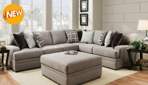 Simmons Upholstery Dublin Briar Sectional Sofa - Mattress King Of .
