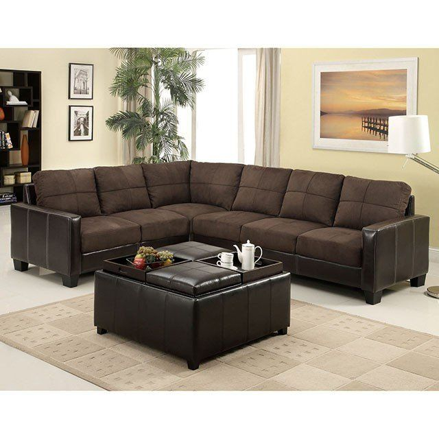 Furniture of America Lavena Sectional | Corner sectional sofa .