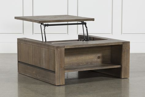 Lassen Square Lift-Top Cocktail Table | Coffee table living spaces .