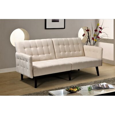 Everly Quinn Rummel Ying Sofa Bed Upholstery Color: Beige in 2020 .