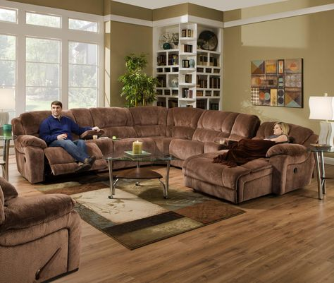 661 Casual Reclining Sectional Sofa by Simmons Upholstery .