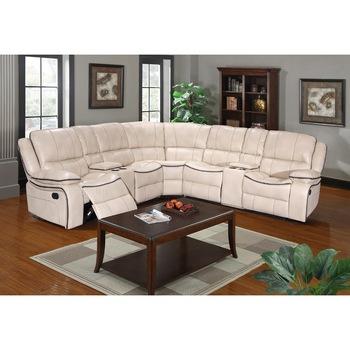 European Design Cheap Sofa Chair White Leather Recliner/lazy Boy .