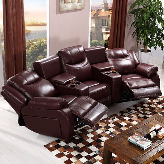 Cinema Sofa With Recliner Lazy Boy Sofa Bed Top Grain Leather Vip .