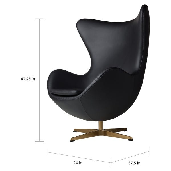 Shop Strick & Bolton Warhol Black Leather Swivel Chair - On Sale .