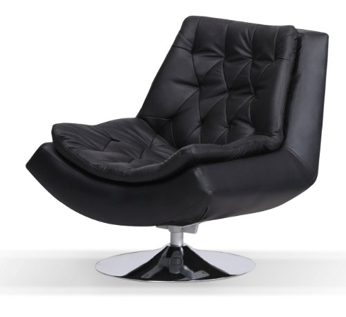 Sofa Furniture UK: Capella Real and Faux Leather Iris Swivel Chair .