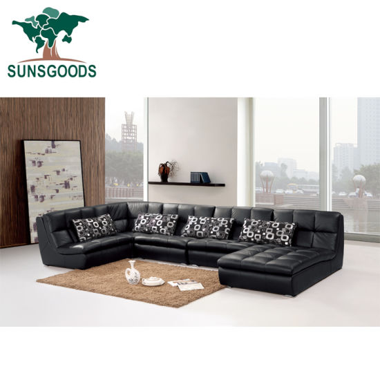 China L Shape Best Modular Sectional Sofa Top Grain Leather Sofa .