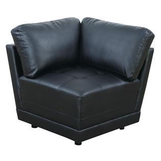 Esofastore Modern Modular Sectional Sofa 6pc Set Black Bonded .