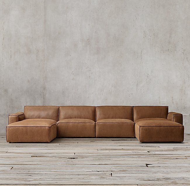 Como Modular Leather Customizable Sectional | Leather couches .