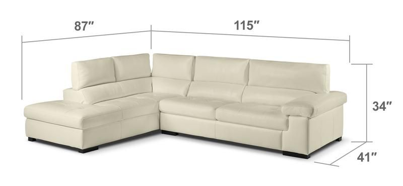 Underwood 2-Piece Sectional with Left-Facing Chaise - Bisque .