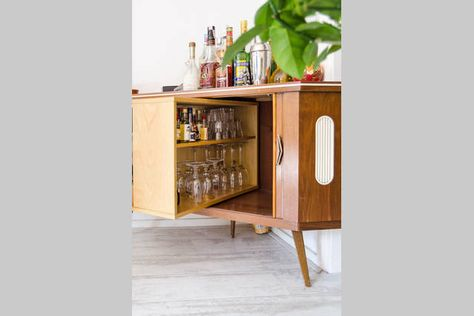 Mid century, vintage retro liquor cabinet where you can hide your .