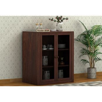 Leven Kitchen Cabinet (Walnut Finish) (With images) | Latest .