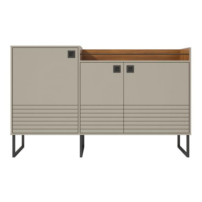 Manhattan Comfort Loft 62.59-in Buffet Stand in Off White and Wood .