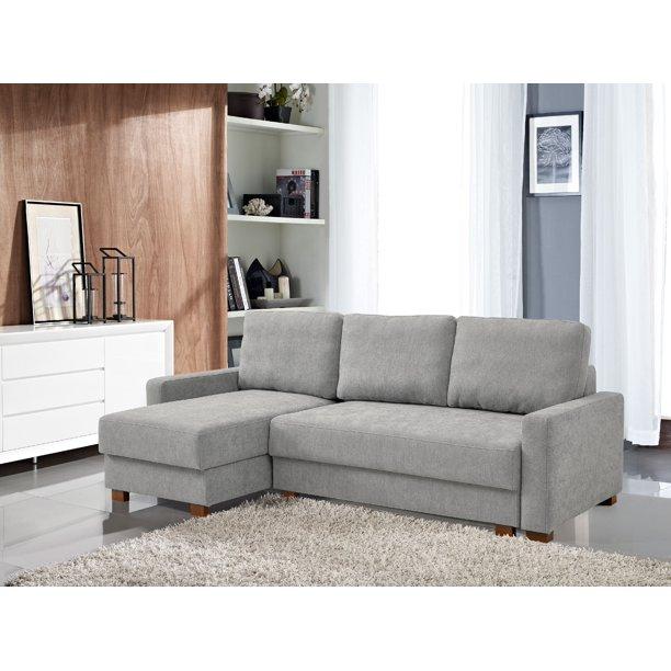 Lucas Serta® 3-Seat Functional Sectional Sofa w/ Storage, Light .