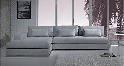 Amazon.com: Light Grey Fabric Sectional Sofa: Kitchen & Dini