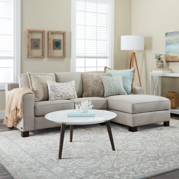 Shop Sectional Sofa with Chaise in Light Grey - Overstock - 86546