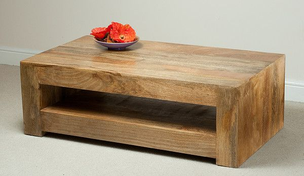Natural Solid Mango Coffee Tables - Coffee Table - Mantis Light .