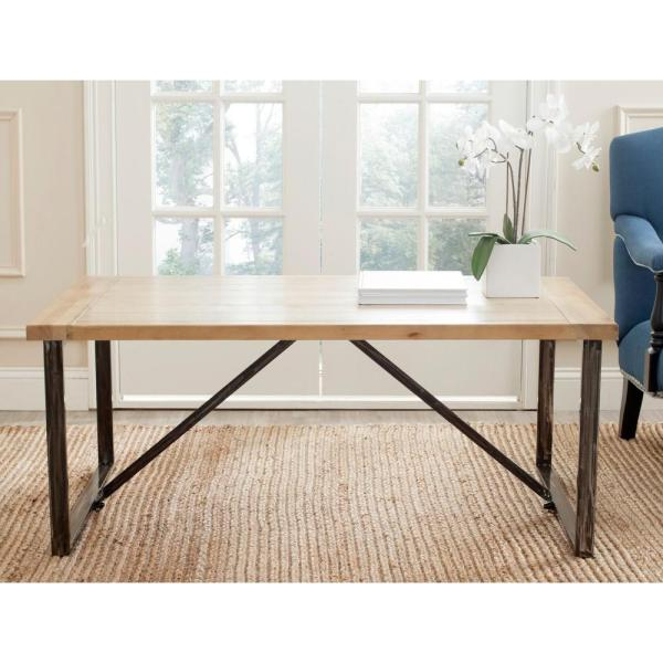 Safavieh Chase Light Oak Stain Coffee Table AMH4129A - The Home Dep