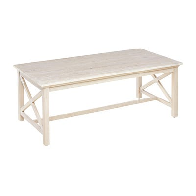 Willow Lime Wash Coffee Table   Pier