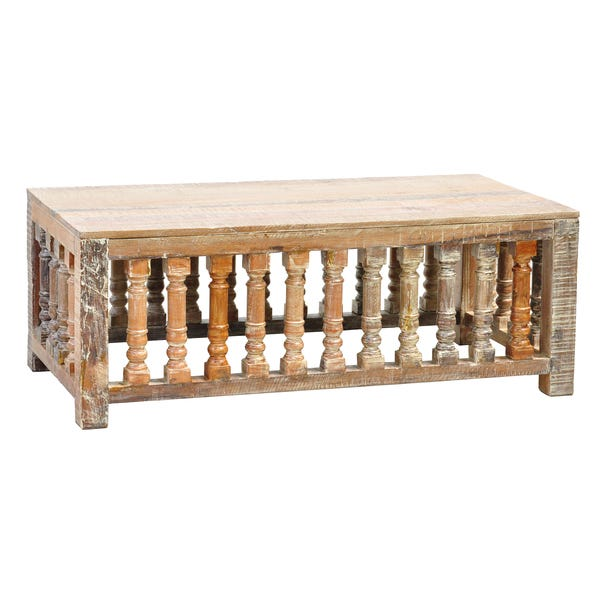 Shop Kosas Home Abigail Lime Wash Trestle Coffee Table - Overstock .