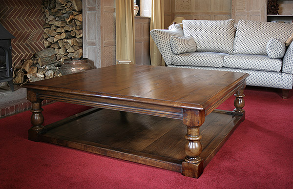 Large Coffee Table in Limewashed Oak Panelled Sitting Ro