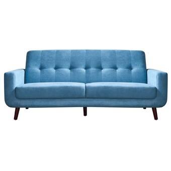 George Oliver Liv Microfiber 79.6'' Square Arm Sofa | Wayfa