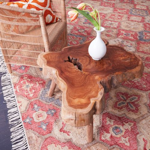 Live Edge Teak Coffee Table - Living Room Teak Furniture .