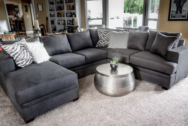 Kerri Charcoal 2 Piece Sectional With Left Arm Facing Chaise in .