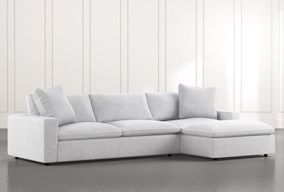 Utopia 2 Piece Sectional With Right Arm Facing Chaise | Living Spac