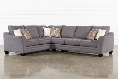 Mesa Foam II 2 Piece Sectional With Right Arm Facing Sofa | Living .