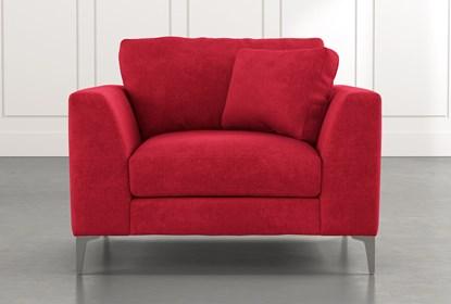 Loft Red Arm Chair | Living Spac