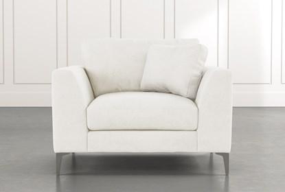 Loft White Arm Chair | Living Spac