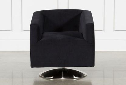 Loft Black Swivel Accent Chair | Living Spac