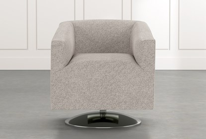 Loft Light Grey Swivel Accent Chair | Living Spac