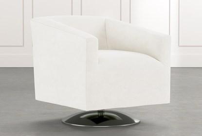 Loft White Swivel Accent Chair | Living Spac