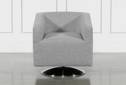 Loft Smokey Swivel Accent Chair | Living Spac