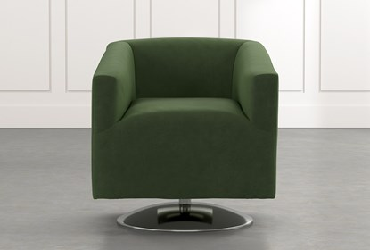 Loft Green Swivel Accent Chair | Living Spac
