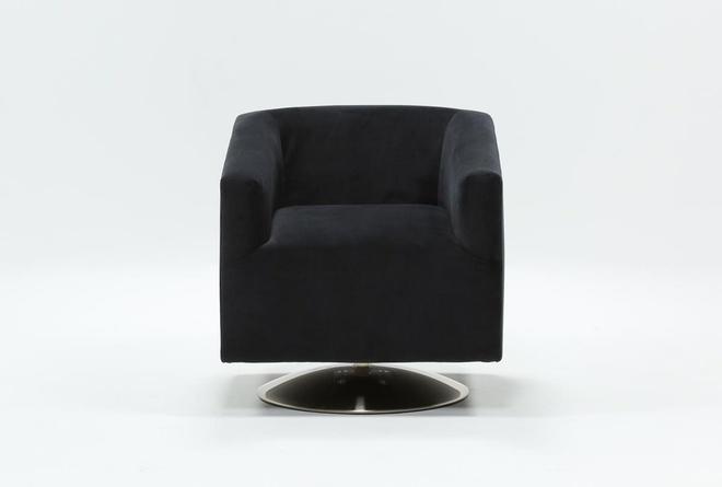 Loft Teal Swivel Accent Chair | Living Spac