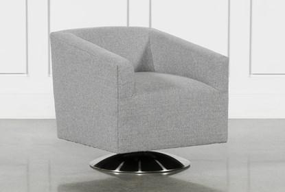 Loft Smokey Swivel Accent Chair   Living Spac