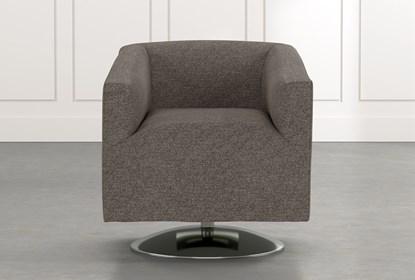 Loft Dark Grey Swivel Accent Chair   Living Spac
