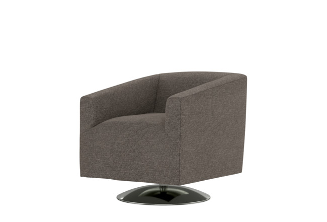 Loft Dark Grey Swivel Accent Chair | Living Spac