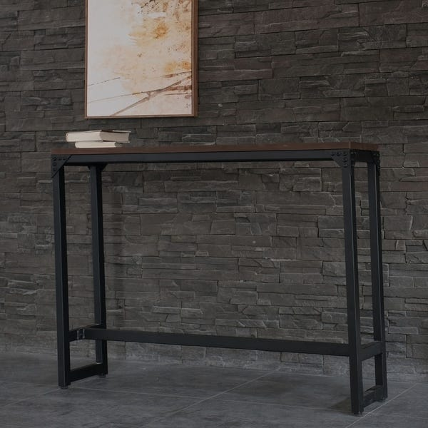 Shop Logan Small Spaces Contemporary Industrial Bar/Cocktail Table .