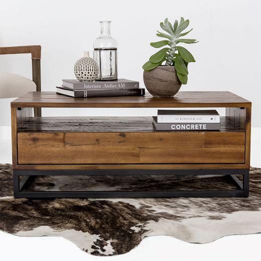 Logan Industrial Storage Coffee Table - Natur
